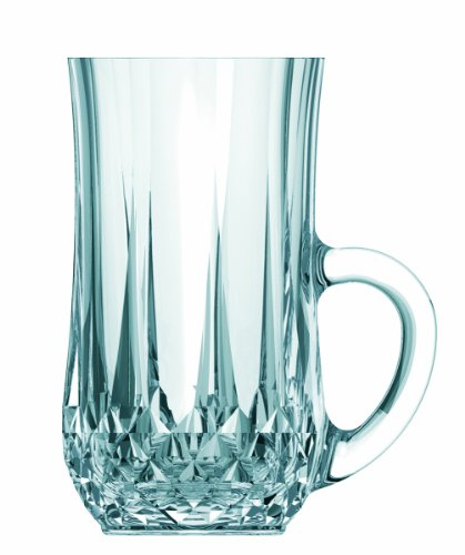 Arc International Cristal D'Arques Longchamp Diamax Tea Mug, 4-3/4-Ounce, Set Of 6