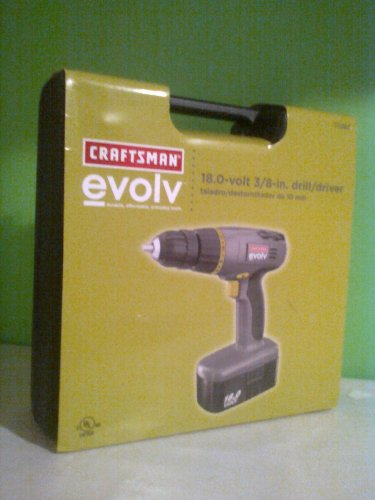 c1084bw1075der923  Craftsman  Evolv  18 Volt Craftsman Cordless Drill