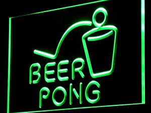 ADV PRO j214-g Beer Pong Bar Pub Club Game NEW Light Sign Barlicht Neonlicht Lichtwerbung