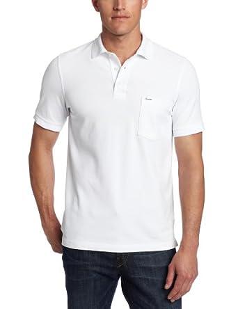 Faconnable Men's Blue Label Pique Polo, White, Small