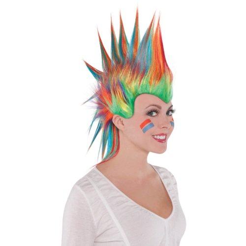 Rainbow Mohawk Wig - 1