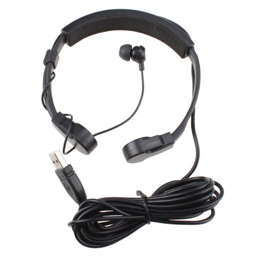 Image® Throat Microphone And Earphone Earset For Ps3 Laptop Pc