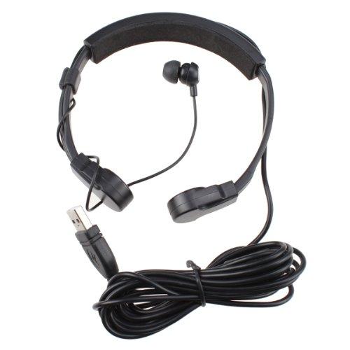 Agptek® Usb Throat Mic Earphone (Black) For Sony Playstation 3 Ps3 & Pc