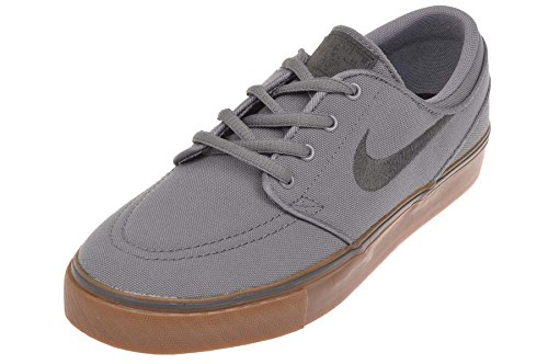 Nike Kid's Stefan Janoski CNVS (GS), COOL GREY/ANTHRACITE-BLACK-GUM BROWN, Youth Size 4.5 (Stefan Janoski Kids compare prices)