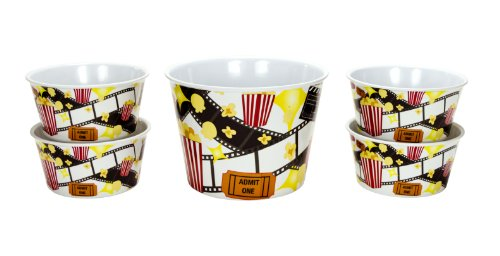 Boston Warehouse Movie Night 5-Piece Popcorn Set