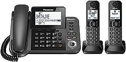 Panasonic KX-TGF382M DECT 2-Handset Landline Telephone by Panasonic