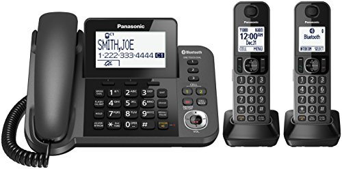 Panasonic KX-TGF382M DECT 2-Handset Landline Telephone (Panasonic Handset Phone compare prices)
