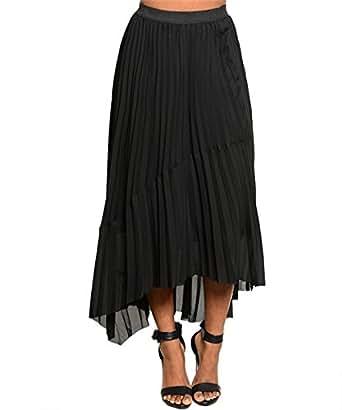 Amazon.com Womenu0026#39;s Long Comfortable Black Skirt - Size Large Clothing