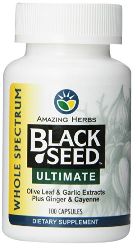 Amazing Herbs Black Seed Ultimate with Garlic, Ginger, Cayenne Capsules, 100 Count (Black Seed Extract Capsules compare prices)