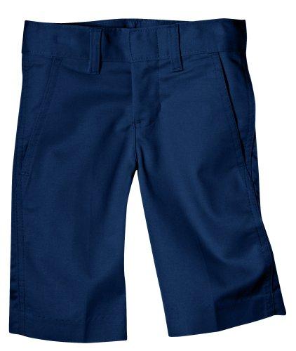 Dickies Big Boys' Flex Waist Flat Front School Uniform Short, Dark Navy, 8 Regular