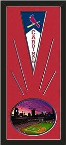 St. Louis Cardinals Wool Felt Mini Pennant & Busch Stadium 2013 Photo - Framed... by Art and More, Davenport, IA