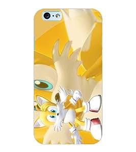 ColourCraft Cute Cartoon Cat Design Back Case Cover for APPLE IPHONE 6S