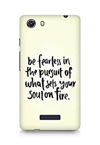 AMEZ be fearless i the pursuit Back Cover For Micromax Unite 3