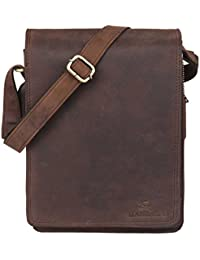 Leaderachi-100% Genuine Hunter Leather Crossbody Messenger Sling Bag [LIGURIA]
