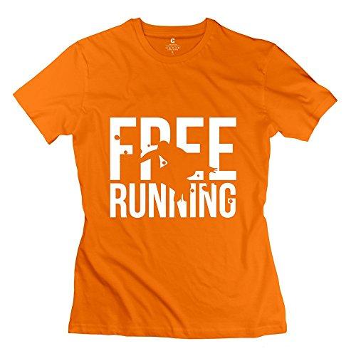 Jeff Women Free Running T-Shirt Orange Small