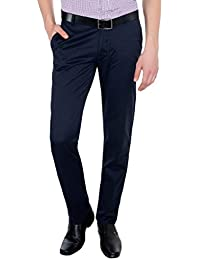 Only Vimal Men's Navy Blue Slim Fit Cotton Chinos