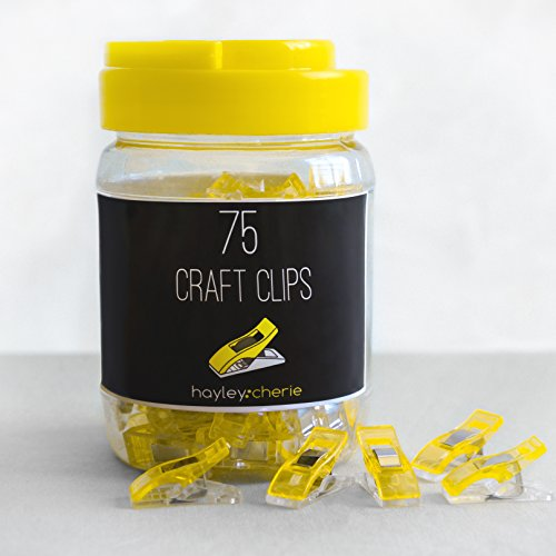 Cheapest Prices! *NEW PRODUCT* Hayley Cherie Craft Clips (75 Pack) for Sewing, Quilting, Beading, Cr...