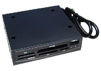 3.5″ Internal Memory Card Reader with Front USB 2.0 port BLACK
