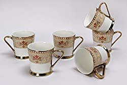 Clay Craft Tea Cups Set of 6 Piter B Ebony 293 - Ebony Series