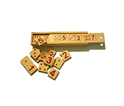 Montessori Educational Toy Wooden Domino Number Puzzles Set. Self-Correcting Puzzle Pieces Teach Counting and Numeral Recognition. Help Your Child Learn Math Skills and Have Fun!