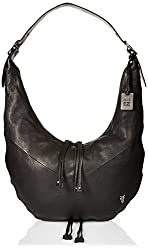 FRYE Belle Bohemian Hobo, Black, One Size