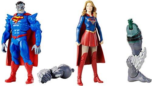"Super Hero Multiverse Superman: Doomed 6"" Figure Vs Multiverse Supergirl Figure"
