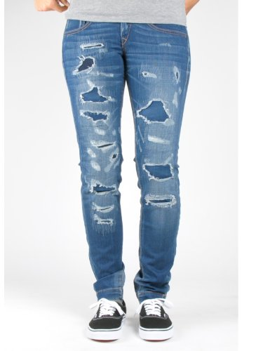 Fornarina - Jeans slim fit, donna, blu (Used Denim), 25- DE