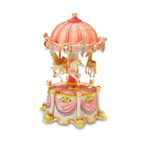Carousel Dreams Mini 3-Horse Rotating Figurine #842970053095