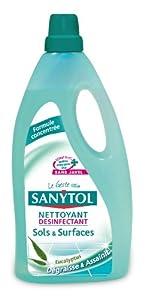 Sanytol - 33631220 - Désinfectant Nettoyant Sols - 1 L - Lot de 2