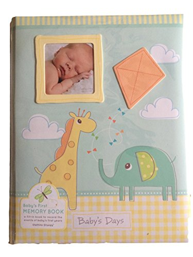 C R Gibson Baby Memory Book Yellow Baby Record Book