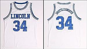Ray Allen Lincoln 34 Jesus Shuttlesworth Basketball Jersey