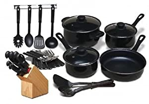 *NEW*MODA FINA*32 PC KITCHEN COOKWARE SET*POTS and PANS*CUTLERY*TOOLS & FLATWARE