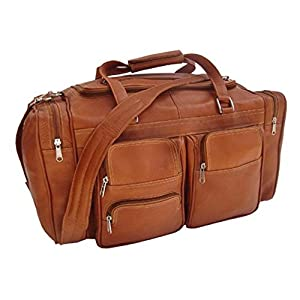 Piel Leather 20In Duffel Bag with Pockets from Piel Leather