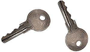 EZGO (1982-Up) Gas and Electric Golf Cart Replacement Ignition Key (2) from Red Hawk