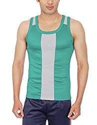 Sportee Men's Polyester Vest (Rtiv03Pp01G03_Green_Xx-Large)