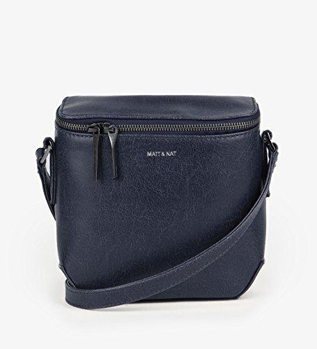 Matt & Nat Moxy Vintage Crossbody Bag, 100% Vegan, Midnight (Dark Blue)