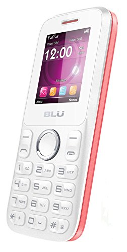BLU Zoey II Quadband Unlocked Dual Sim Phone with Camera Bluetooth and Social Networks – Retail Packaging – White Pink