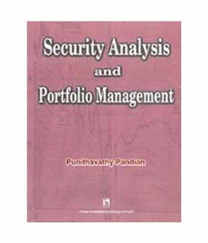 MF0010 SECURITY ANALYSIS AND PORTFOLIO MANAGEMENT