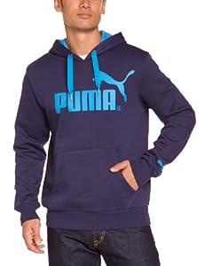 Puma FD Logo Sweat à capuche homme Peacoat FR : 44/46 (Taille Fabricant : S)