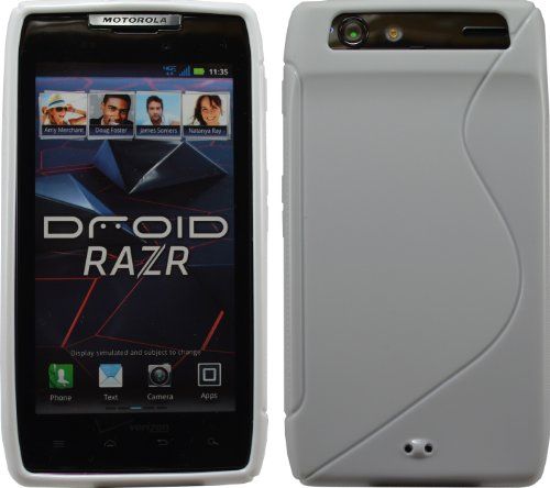 White Sline Tpu Case For Motorola Droid Razr Maxx Verizon Xt912
