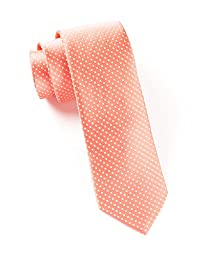 100% Woven Silk Coral Pindot Tie