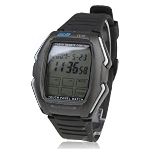 Touch Screen Remote Control Wrist Watch with Calculator - Black