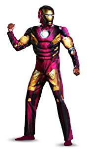 Disguise Marvel's Avengers Movie Iron Man Mark 7 Avengers Classic Muscle Adult Costume, Red, X-Large/(42-46)