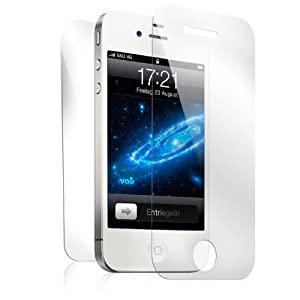 vau Screengards - Display Schutz-Folien für Apple iPhone 4S / 4 ( 6er-Set Full-Protection: 4 x Front ultra-clear + 2 x Rückseite )