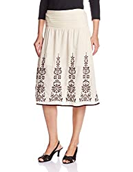 Amare Womens Skirt (PI SK 19_Beige_Free Size)