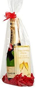 Moët & Chandon Brut Impérial NV Champagne 20cl & 2 Personalised Chocolate Bars Gift Bag (Boxed & Gift Wrapped)