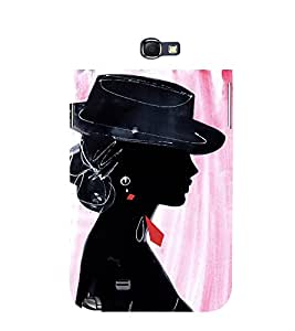 Party Girl 3D Hard Polycarbonate Designer Back Case Cover for Samsung Galaxy Note 2 :: Samsung Galaxy Note 2 N7100