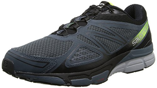Salomon - X-Scream 3D, Sneakers da uomo, nero (grey denim/black/fluo yellow), 46