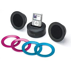 iHome iH64BA Multimedia Stereo Speakers wth Dock for iPod (Black)