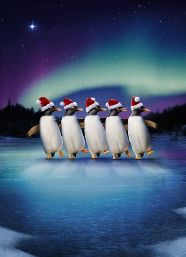 Avanti Christmas Cards, Skating Penguins, 10